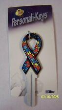 Autism Ribbon Kwikset KW1/KW10 house key blank.