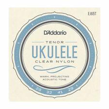 UKULELE STRINGS - D'ADDARIO EJ65T - CLEAR NYLON - TENOR SET - GCEA HIGH G