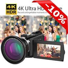 WiFi 4K Ultra HD 48MP  Touchscreen Digital Video Camcorder Camera DV + Dual Lens