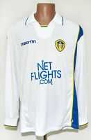LEEDS UNITED 2009/2010 HOME FOOTBALL SHIRT JERSEY MACRON SIZE L LONG SLEEVES