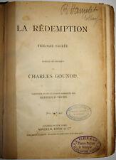ANCIENNE PARTITION La RÉDEMPTION Ch. GOUNOD PIANO CHANT B. TOURS NOVELLO EO 1882
