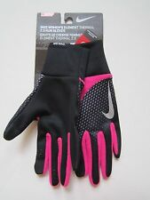 Nike Women's Element Thermal 2.0 Run Gloves Black Pink NWT Size XS