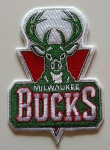 "Milwaukee Bucks Embroidered PATCH~3 7/8"" x 2 5/8""~Iron Sew On~NBA~Ships FREE"