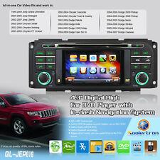 US Autoradio DVD GPS Satnav For Jeep Grand Cherokee Chrysler Sebring Dodge Ram