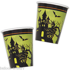 8 Feliz Halloween Haunted House Party Desechables 9 Oz papel Tazas