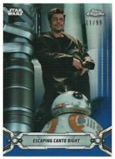 2019 Star Wars Chrome Legacy Blue Refractors 190 Escaping Canto Bight BB-8 11/99