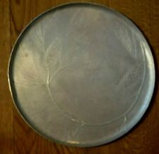 """Wendell August Forge 13.5"""" Platter - Pine Cone & Needles - Hammered Aluminum"""