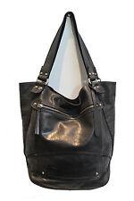 Black Leather Handbag Shoulder Tote Bag Large by Malamalachi Ladies Women's