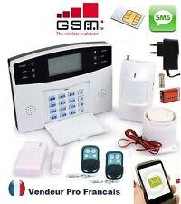 Kit Alarme Maison Sans Fil GSM SMS Auto Appel Anti Vol 1-  99 Zones SMS IPHONE
