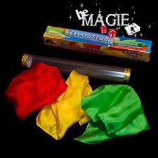 Foulards noués par le souffle - Crystal Tube - Tour de magie