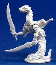 1 x HOMME SERPENT - BONES REAPER figurine miniature jdr 77153 snakeman nagendra