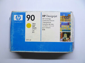 HP Original 90 Yellow C5064A Designjet 4000 4500 Series Boxed 08/2017