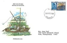 MALDIVES 1981 FIRST DAY COVER FISHERMAN'S DAY