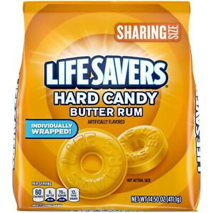 Life Savers Butter Rum Hard Candy Sharing Size Bag, 14.5 Oz