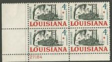 Plate Block of 4 stamps. Scott # 1197 - 4 cent -   Louisiana Statehood - 1962