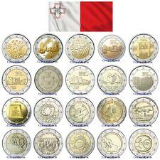 2 Euros Conmemorativos MALTA Sin circular - TODOS LOS AÑOS -