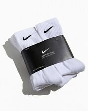 Nike Everyday Cotton Cushioned Crew Socks White Large Dri-fit - Pack Of 6