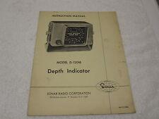 Vintage 1960s SONAR RADIO Model D-120M Fishing Depth Finder Instruction Manual