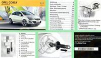 Opel Corsa D Bedienungsanleitung & Wartung 01/2013 auch OPC Betriebsanleitung