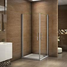 90x80x195cm Porte de douche pivotante anticalcaire verre de sécurité de 6mm
