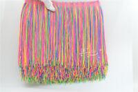 Latin samba skirt stagetassel fringe polyester lace bow sewn 20cm 1 yard