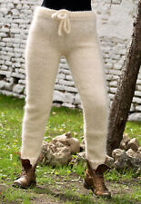 Sexy Designer Hand Knitted Mohair Pants Legwarmers White Trousers EXTRAVAGANTZA