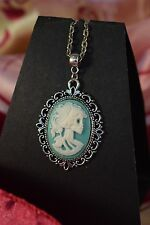 LOLITA ANTIQUE STYLE CAMEO NECKLACE [GREEN]