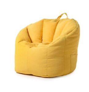Bean Bag Chair For Adults & Kids Four Colours Grey Blue Orange Yellow Zipper Fil