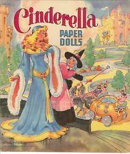 VINTGE 1950 CINDERELLA PAPER DOLL LASER REPRODUCTION~UNCUT LO PR NO1 SELLER EBAY