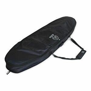 Alies Deluxe Double Black Surfboard Bag 10mm Padding Double Zips