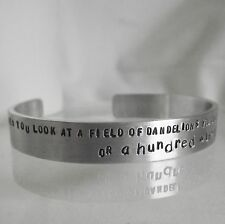 """Cuff Bangle Torque Handmade Personalised """"....a hundred wishes""""  Statement"""