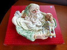 "Fitz & Floyd Gregorian Santa Canape Plate 10 1/2"""