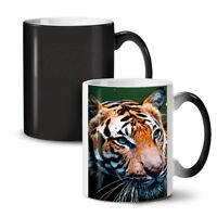 Tiger Photo Face NEW Colour Changing Tea Coffee Mug 11 oz | Wellcoda