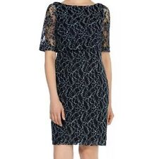 Bnwt 🌹Coast🌹Size 10 Navy Blue Mia Lace Dress Wedding Cruise Races Cocktail New