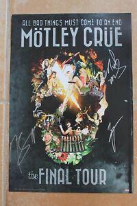 Nikki Sixx Mars Neil Signed Motley Crue Final Tour Poster Autographed The Dirt
