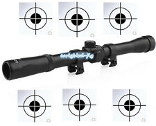 Telescope 4x20 Reticle Hunting Rifle Scope use for 22 Caliber Rifle and Air Gun