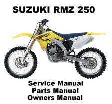 SUZUKI RMZ250 RMZ 250 MX Owners Workshop Service Repair Parts Manual PDF on CDR