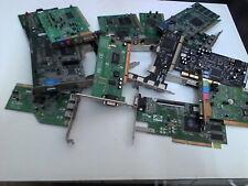 LOTTO 14 SCHEDE PCI ASSORTITE - VIDEO - AUDIO - FIREWIRE - USB - SATA DA TESTARE