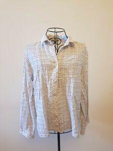 T-307 Viyella Size 18 Beige Check Shirt