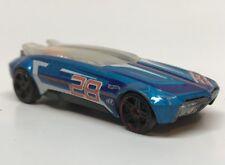 Hot Wheels Racing 2014  Blue Whip Creamer #28 Plastic Base  Sliding Glass