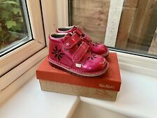 Girls Kickers Pink Patent Boots Sparkle Size UK 8 Infant EU 25 Box Cost £50 New
