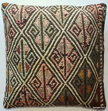 (50*50cm, 20inch) Boho Style handwoven kilim cushion cover textured rustic brown