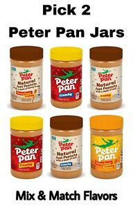 Pick 2 Peter Pan Peanut Butter 16 oz Jars Creamy, Crunchy, Honey or Natural