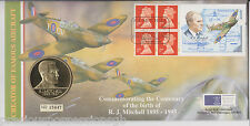 GB QEII FDC PNC COIN/ MEDAL COVER 1995 R J MITCHELL ROYAL MINT/MAIL B/UNC