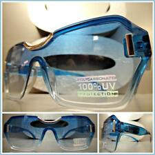 CLASSY CONTEMPORARY MODERN Cat Eye Style SUN GLASSES Transparent Blue Frame Lens
