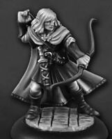 1 x LANAEREL GRAYLEAF - DUNGEON DWELLERS REAPER miniature rpg elf scout 07006