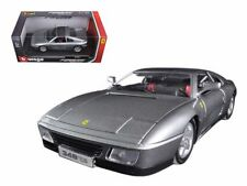 1:18 scale Ferrari Race and Play 348TS (Silver Grey) Diecast Model by Bburago