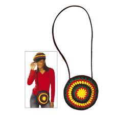 HIPPIE UMHÄNGETASCHE # Rasta Reggae bunte Handtasche Kostüm Party Zubehör 8445