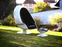 Alpha Sphere Speaker Chair USA Lounge Sessel Stuhl Original 60er 70er + Ottomane