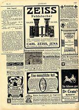 Binoculars Carl Zeiss Hena ADVERTISING AD 1907